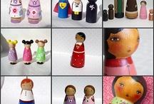 Peg & stacking dolls