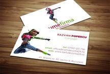Modele carti de vizita Fitness / Carti de vizita pentru antrenori de fitness, antrenori de dans, kangoo jumps