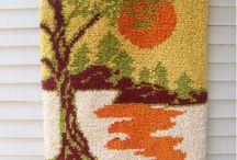 tapiz telar decorativo