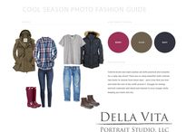 Fashion Guides / What to Wear! For the love of color, we've put together some amazing fashion guides to help get your family on track for some fantastic photographs!  Elegant, stylish and trend-friendly, these guides are sure to get you excited about dressing for the occasion! www.dellavitaportraits.com