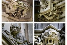 gargoyles and mythical beings