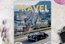The Magazine / Preview covers and and layouts from our luxury travel title, Signature Luxury Travel & Style magazine