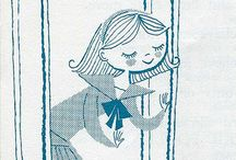Illustration Inspiration / Illustrations from old books. Mostly vintage children's books!