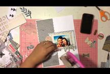 Free Flow Wednesday / Traditional Scrapbooking, including 12x12, 8 1/2x11 and double spread layouts