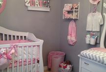 The Nursery is Complete!  Thanks to all of the great ideas from Pinterest :) / Love how our pink and grey room turned out for Daughter to be in less than a week..Zuri, can't wait to meet you :)  dimplesdecor.com