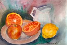 Still Life Paintings by Penny StewArt / Acrylic, Watercolor and Gouache, paintings of still life subjects in different styles and mediums, by Penny Lee Stewart. www.craftylady.com, www.pennyleestewart.com