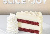 Slice Of Joy / For every $25 in gift cards purchased, you will receive a complimentary slice of cheesecake!* http://bit.ly/1ponbDX *Slice of Joy card redeemable on a future visit from 1/1/2016 - 3/31/2016 for one complimentary slice of cheesecake or layer cake. One card per guest. Must be present. Valid in the United States and Puerto Rico only.