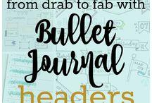 Bullet Jornal / Ideias,estudos,caligrafia.. organização