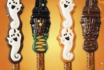 Halloween Chocolate Pretzels