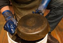 restoring cast iron pans
