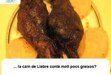 Carn de Llebre / Carne de Liebre / Aquí trobaràs curiositats sobre la carn de llebre / Aquí encontrarás curiosidades sobre la carne de liebre