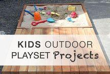 Kids outdoor playset