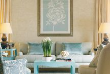 Shades of Aqua / by Blanche and Kate Design