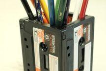 Eski kasetlerden elde edilen kalemlik