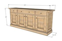 DIY Furniture ideas / Sideboard for the front room
