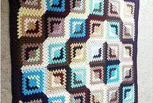 вязание - бабушкин квадрат