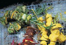 Bbq / Courgette kip en kruiden op de bbq