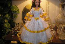 Vestidos  y Conjuntos para BARBIE / Vestidos en tela y Conjuntos Polar Barbie.