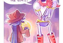 OneShot / C'est l'histoire d'un personnage nommé Niko qui est transporté dans monde où le soleil est une ampoule! Sa mission: surveiller ce soleil assez original pour ne pas qu'il s'éteigne. Mais cela signifie que Niko est coincé dans une tour,le Refuge et ne peut plus en sortir, car les habitants de ce monde comptent sur lui