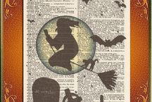 Halloween Upcycled Vintage Art Prints / by Alan Broz