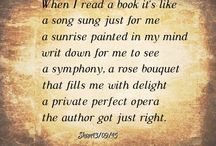 Poetic Prose / Some poems about reading and a love of literature.