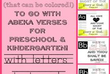 verse printables for the letters of the alphabet (ABeka) / by Creative K Kids (Tammy) Doiel