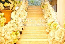 Papierowe kwiaty i dekoracje