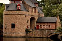 Medieval city gates Bruges