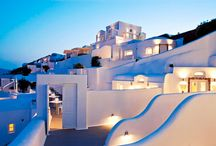 Canaves Oia Hotel / At the Canaves Oia Hotel, 17th century Canaves that are carved into the Cliffside, have been modified and transformed into designer-chic luxury Suites, oozing the sophistication of minimalism.   Elegance and harmony hidden in simple, dazzling white forms against the velvet blue of the Aegean Sea, make this five star hotel in Santorini the perfect hideaway for romantic couples and dreamy weddings.   canaves.com/canaves-oia-hotel / by Travelive