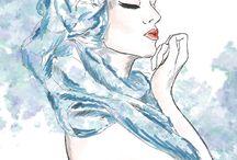 Fashion illustration / Fashion & design art, concept art and sketches. My art