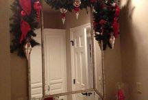 Decoración baño navideño