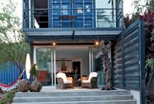 Shipping container homes / Homes in which have been made from shipping containers