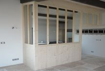 Châssis atelier / Châssis intérieur style atelier en bois, acier avec vitrage. Un aspect loft dans votre maison.