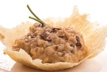 Risotto with porcini mushrooms and truffled Pecorino cheese / Italian Recipe