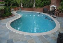 Pool Deck Options / Decking options for your swimming pool.