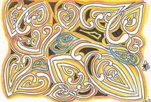 ♥zentagle/zendoodle & Mooka ♥ Tangle patterns / by Gyöngyi Ár