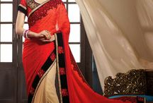 Designer Red Sarees / Beautiful Designer Red Sarees available at WhiteMango.in Free Shipping. COD Available.