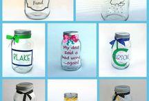 CRAFTS { WITH JARS } / #crafts #diy #mason #jar #decor / by M B