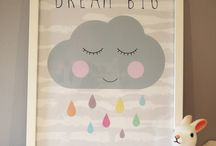 Girls Raincloud theme bedroom