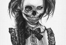 Drawing inspo / Skull/face