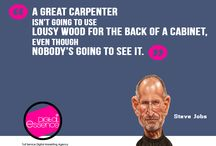 quotes / Entrepreneurs like Steve Jobs, Bill Gates and Mark Zuckerberg have been quoted as saying some of the most inspirational words in the world, and they have some of the most successful companies in the world!