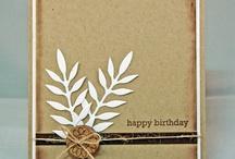 Card ideas - Kraft