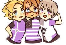 Hetalia!!! Awsome trio