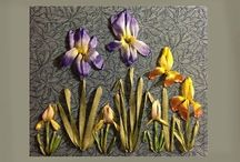 Ribbon Flowers  tutorials / by Donna Cotterman