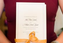 Wedding program by Paper in the Park and photo by Carly Fuller Photography