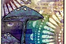 Mixed Media Projects Mushrooms