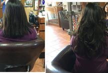 Before and After Hair Extensions / Hair extensions photos before & after - real clients with real human hair extensions.See more about Extensions, Extensions Before After and Before After Hair.