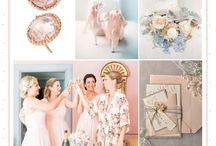 Rose Quartz and Serenity Weddings / We are positively SWOONING over Pantone's two (!) colors of the year, Rose Quartz and Serenity. For the first time ever they've blended two colors to create this dreamy combination.
