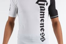 Gameness White Short-Sleeve Pro Rank Rash Guard / The Gameness Logo Rash Guard features comfortable and strong flat lock stitching, dyed-into-the-fiber graphics that will never peel or fade, and moisture wicking fabric.