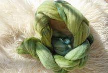 Dyed wool fiber